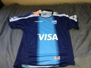 TOPPER ARGENTINA VOLLEYBALL PLAYER ISSUE AWAY JERSEY, SIZE LARGE, NEW WITH TAGS