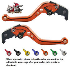 MC Short Adjustable CNC Levers Honda CB599 / CB600 HORNET 1998 - 2006 Orange