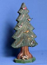 Großer Baum Tanne Tannenbaum mit Vögeln Sächsische Holzkunst Gotthard Steglich