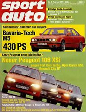 Sport Auto 02/92, Test: BMW 325i Coupé, Caterham Super Seven 16V, 210 PS,