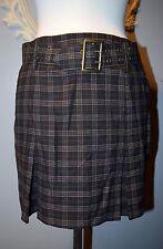Black Brown white Plain High waist Waisted belted skirt 90's Grunge Hipster 7
