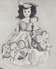 "Vintage Crochet PATTERN to make Pansy Doll Pin Cushion Dress Hat 8"" DorPansy"
