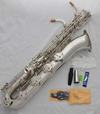 Professional Silver Baritone Saxophone TAISHAN Sax Low A key Germany mouthpiece