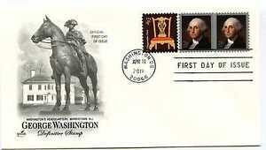 4504 20c George Washington, pane,  ArtCraft FDC