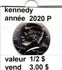 pièces de 1/2  $  kennedy   2020 P