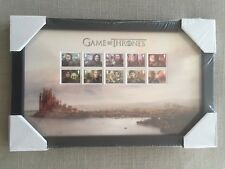 Game Of Thrones Great Britain Royal Mail 2018 Framed Stamps Collectible ~ New