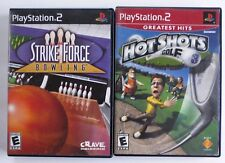 Lot of 2 Playstation 2 Games: Hot Shots Golf 3, Strike Force Bowling TESTED