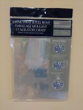 Two packs Gift Wrap Shrink Bag clear cellophane for wrapping baskets 24 x 30 bow