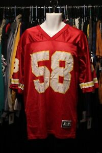 Vintage 1997 Starter Kansas City Chiefs #58 Derrick Thomas Jersey Size 48/L