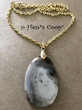 Scenic Dendritic Freeform Agate Necklace OOAK handmade USA 1429