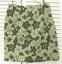 Petite Sophisticates Skirt, NEW with Tags, Size 12, Green Floral Print, Cotton