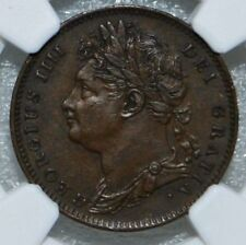 1822 Great Britain 1/4 d Farthing AU53 BN UK COIN