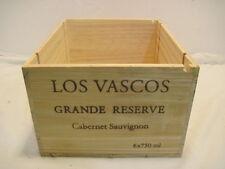 OLD WOOD-WOODEN LOS VASCOS GRANDE RESERVE CABERNET SAUVIGNON WINE CRATE BOX
