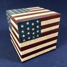 American Flag Patriotic Americana Lidded Gift/Trinket Box by Warren Kimble