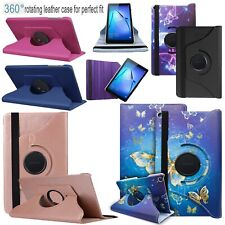 """Huawei Mediapad M5 Lite 10 (10.1"""") 360° Rotate Tablet PU Leather Flip Case Cover"""
