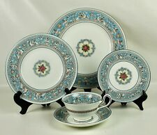 5 pcs Wedgwood Florentine Turquoise #W2714 China Plates Cup Saucer Free Ship