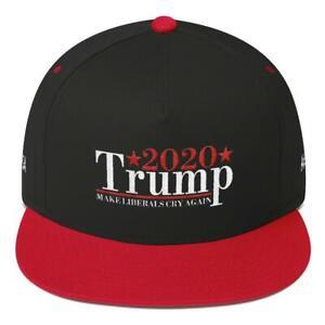 Trump 2020 Make Liberals Cry Again MAGA Snapback Baseball Hat