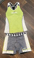SOAS Triathlon Running Cycling Women's Set Shorts & Razor Back Tank Size S & M