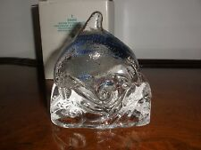 Partylite Clear Dolphin Tealight Candle Holder P0255
