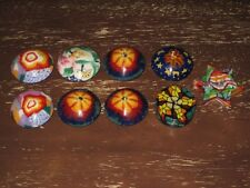 Lot Of 9 Small Psychedelic, Decorative, Collectible Candles - Free Shipping!