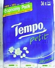 Tempo Jasmine Petit Pocket Tissues Paper 4 ply handkerchiefs 36 packs