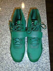 MENS NIKE AIR FORCE SIZE 16 GREEN/WHITE BASKETBALL SHOES - NWOB
