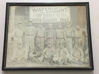 Waterloo Pennant Winners IOWA LEAGUE 1907 Baseball Team Framed Art Photo   TF