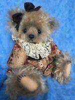 "OOAK Beautiful Mohair Artist Bear ""Farrah"" by Cathy Lynn Forcino 16"""