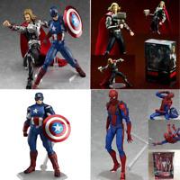 Marvel The Avengers Hulk /Thor/Spiderman/Captain/Ironman Figma Action Figure