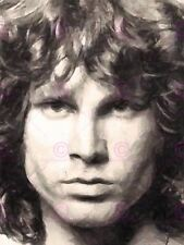 Pintura retrato cantante músico Jim Morrison Doors Lagarto Rey Poster LV10642