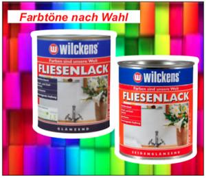 Wilckens Fliesenlack Fliesenfarbe - Glänzend / Seidenglänzend - Bunte Farbtöne