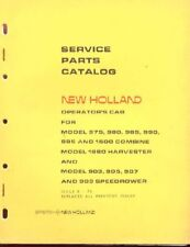 New Holland Combine/Rower Operator's Cab Parts Catalog 975 980 985 990 995 1500