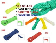 15/20m/30M PLASTIC STRONG CORE WASHING CLOTHE LINE DRYER PULLY ROPE LAUNDRY 'Rpe