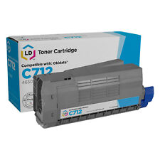 LD Compatible Replacement for Okidata 46507603 Cyan Toner Cartridge for C712dn