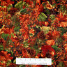 Fall Harvest Fabric - Autumn Leaf & Pine Cone Packed - Timeless Treasures 22""
