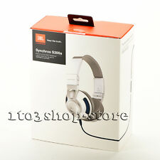 JBL Synchros S300 On-Ear Stereo Headphones Headset w/Universal Mic+Remote White