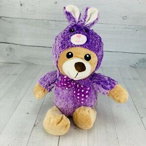Dan Dee Brown Bear Purple Bunny Costume Plush Cute Easter Spring Lovey Soft Baby