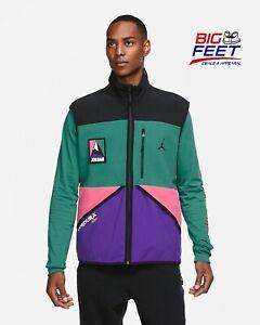 Size XL Nike Air Jordan Men's Classic Polar Tech Vest Multi-Colored CU8131-010