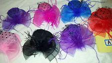 Job lot 12 pcs Small Hat Design Hair Fascinator on Hairclip NEW wholesale Lot A
