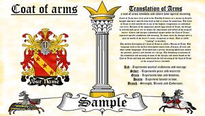 Baernhard-Pernhardt COAT OF ARMS HERALDRY BLAZONRY PRINT
