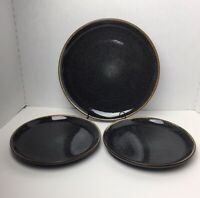 Better Homes And Gardens Stoneware Black Speckled Stylish Durable Plates (3)