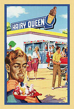 """HAIRY QUEEN"" GAY INTEREST POSTCARD Signed- L Fulton"