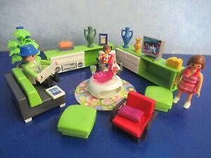 5584 modernes Wohnzimmer Figur  z 9266 4279  5574 5302 Wohnhaus Playmobil 4119