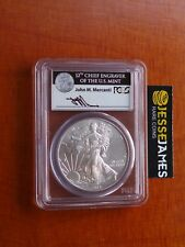 2014 SILVER EAGLE PCGS MS70 FIRST STRIKE BOX #4 MERCANTI SIGNED LABEL!