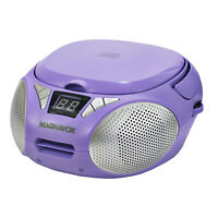 Magnavox MD6924-PL Portable Top Loading CD Boombox with AM/FM Radio in Purple