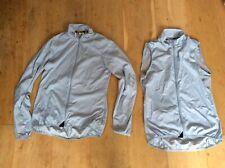 2x Adidas Cycling Light Grey Lightweight Sleeveless & Long Sleeve Jerseys, Small