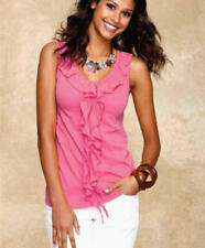 """NEU: SOMMER TOP mit VOLANTS """"COTTON made in AFRICA"""" GR. 38 ARRIVAL pink *608859"""