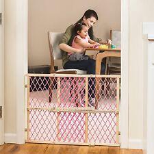 Baby Dog Safety Gate Door Extra Wide Pink WOOD Walk Thru Pet Cat Fence Child