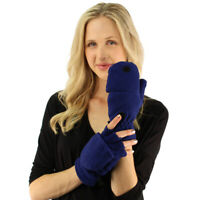 Winter Super Thick Glomitt Flip Up Down Fingerless Warm Mitten Gloves