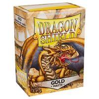 Dragon Shield Matte Gold Card Protector Sleeves 100ct MTG Pokemon ATM11006